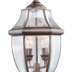 Livex-Lighting-2254-58-Outdoor-Post-with-Clear-Beveled-Glass-Shades-Imperial-Bronze-0