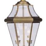 Livex-Lighting-2264-01-Georgetown-2-Light-Outdoor-Post-Head-Antique-Brass-0