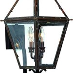 Luxury-Historic-Outdoor-Wall-Light-Large-Size-235H-x-105W-with-Tudor-Style-Elements-Antique-Gas-Lantern-Design-Rustic-Copper-Finish-and-Clear-Glass-UQL1210-by-Urban-Ambiance-0