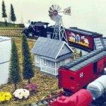 Mini-17-Inch-Made-in-the-USA-Windmill-galvanized-Steel-Black-White-Trim-Route-66-Tail-0-2