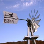 Outdoor-Water-Solutions-BYW0117-Small-Pheasants-Forever-Galvanized-Backyard-Windmill-0-0