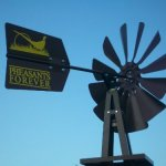 Outdoor-Water-Solutions-BYW0118-Small-Pheasants-Forever-Bronze-Powder-Coated-Backyard-Windmill-0-0