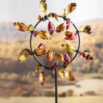 Plow-Hearth-54992-Fall-Leaves-Jubilee-Garden-Wind-Spinner-Gold-Red-and-Orange-0