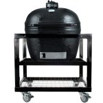 Primo-Oval-LG-300-Ceramic-Smoker-Grill-On-Cart-without-Side-Tables-0