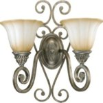 Quorum-5526-2-58-Summerset-Two-Light-Wall-Bracket-Mystic-Silver-Finish-with-Antique-Amber-Scavo-Glass-0