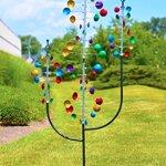 Red-Carpet-Studios-34435-Metal-Outdoor-Decor-Wind-Spinner-Garden-Stake-Tri-Tower-0-0