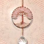 Rose-Quartz-Crystal-Tree-of-Life-Sun-Catcher-with-Crystal-Ball-PrismHandmade-Crystal-SuncatcherCrystal-Window-OrnamentFeng-Shui-Ornament-0