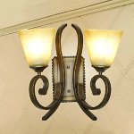 Wall-Lamp2-Light-Vintage-Iron-Resin-Glass-Painting-0