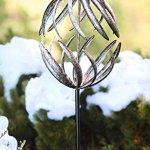 Wind-Weather-Banana-Peel-Metal-Garden-Wind-Spinner-Kinetic-Yard-Sculpture-Dual-Motion-Antiqued-Bronze-Finish-12-W-x-59-H-0-0