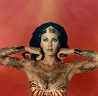 Wonder Woman with Tattoos