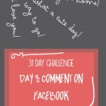 31 day challenge | Day 9: Comment on Facebook