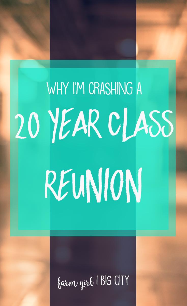 Crashing a 20 year class reunion (via farm girl big city)