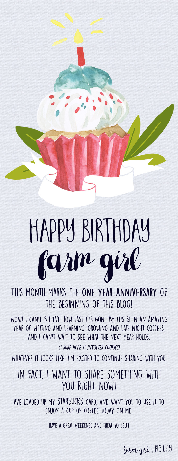 Get a FREE Starbucks coffee on me farm girl – Starbucks Card Birthday Month