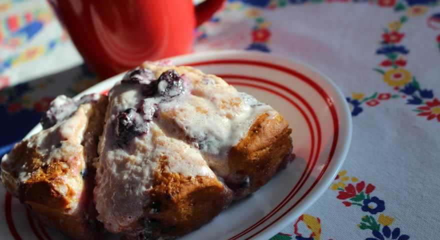 Happy Baking Accidents…Blueberry Coffee Cake Kind of Thing…