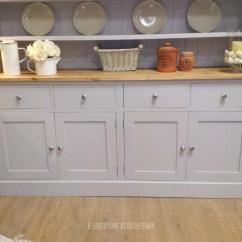 Kitchen Cabinet Corner Shelf Best Stores Solid Pine Painted Welsh Dresser - Farmhouse Furnishings