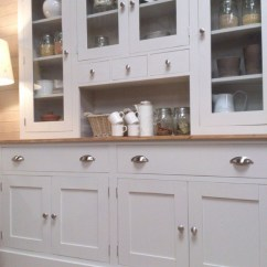 French Kitchen Island Copper Sink Beautiful Painted Welsh Dresser - Farmhouse Furnishings