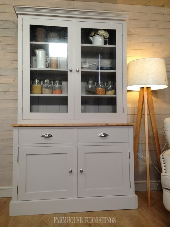 kitchen corner bench with storage lowes stainless steel sinks beautiful solid pine painted 4ft welsh dresser, farmhouse ...