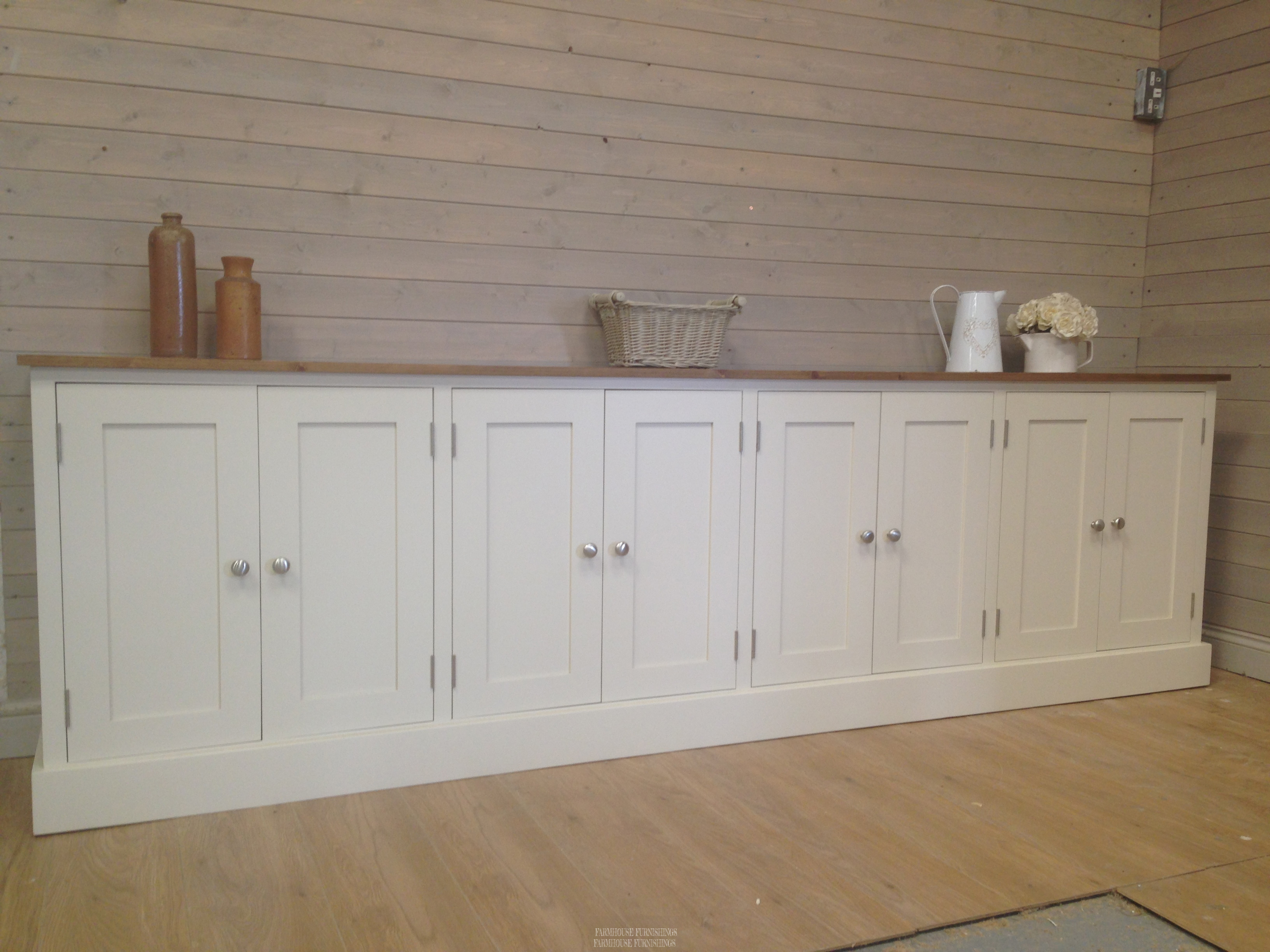 Pine Sideboards Solid Pine 9ft Sideboard Farmhouse Furnishings