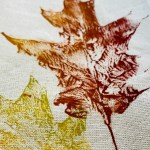Fall Craft Diy Leaf Stamped Napkins Using Acrylic Paint Farmhouse 1820