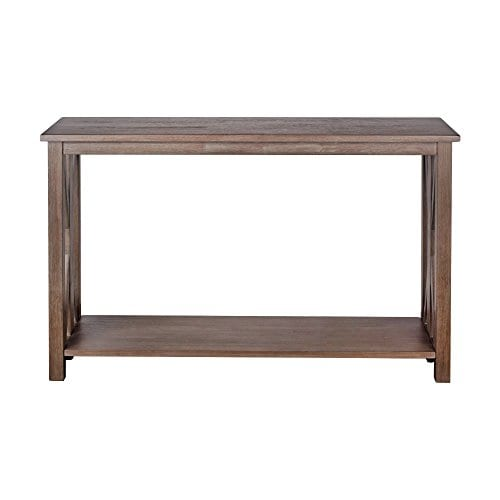 Solid Rustic Grey Wood Farmhouse Console Table Simple - Style Of grey sofa table Photos