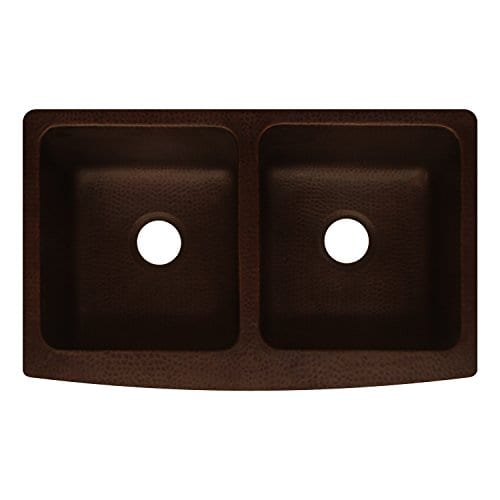 Antica Farmhouse Apron Front Copper Kitchen Sink Double Bowl ...