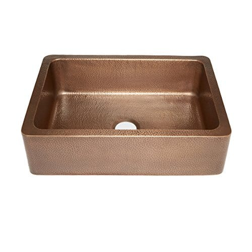 Sinkology hammered antique copper farmhouse apron kitchen sink 30 sinkology hammered antique copper farmhouse apron kitchen sink workwithnaturefo