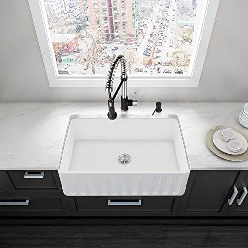 Vigo farmhouse apron single bowl matte stone kitchen sink 30 vigo farmhouse apron single bowl matte stone kitchen sink 30 workwithnaturefo