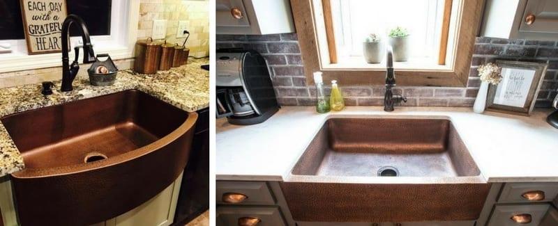 farmhouse copper sinks apron front