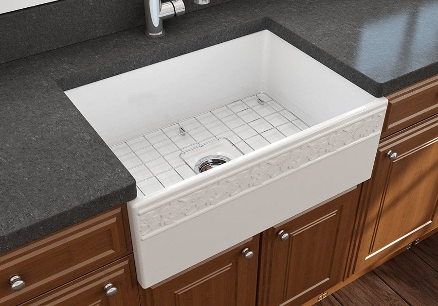 Vigneto Farmhouse Apron Front Fireclay Single Bowl Kitchen Sink, 27 ...