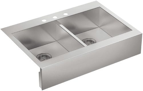 Kohler Vault Double Stainless Steel Farmhouse Apron Sink ...