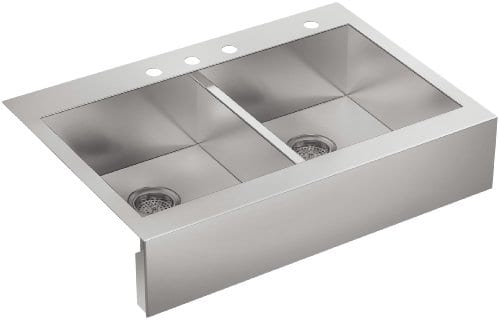 Kohler Top-Mount Double Stainless Steel Farmhouse Sink, 36 ...