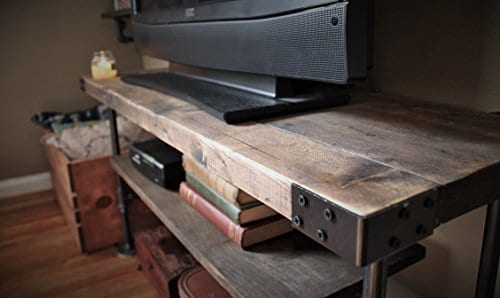 rustic industrial pipe tv stand entertainment center farmhouse goals