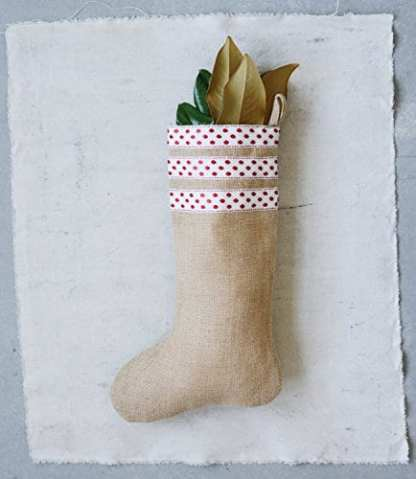creative co op burlap christmas stocking - Burlap Christmas Stocking