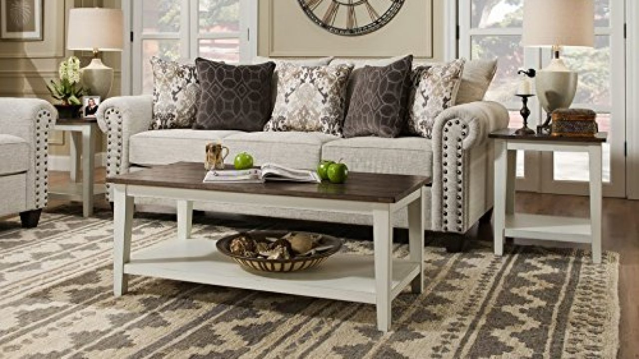 Classic Farmhouse Living Room Coffee Table Set Of 2 Tapered Legs Design Plank Style Top Functional Bottom Storage Shelf Farmhouse Goals
