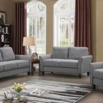 Harper Bright Designs 3 Pieces Living Room Sets Living Room Furniture Sofa Set Include Armchair Loveseat Couch Farmhouse Goals