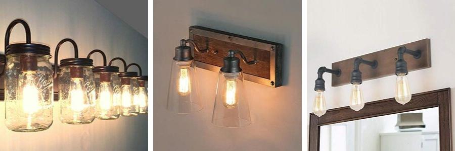 farmhouse bathroom vanity lights