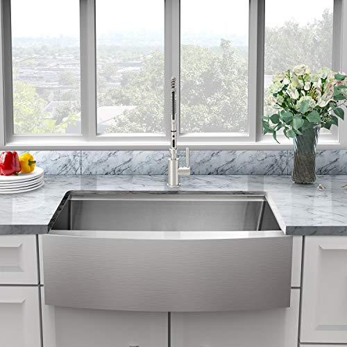 30 farmhouse sink stainless sarlai 30 inch kitchen sink ledge workstation sink apron front single bowl 16 gauge