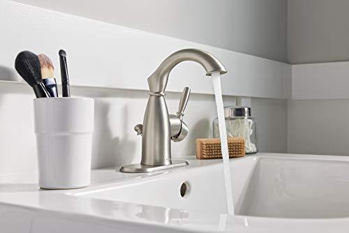 Moen 84144srn Sarona One Handle Single Hole Rustic Farmhouse Bathroom Sink Faucet With Optional Deckplate Spot Resist Farmhouse Goals