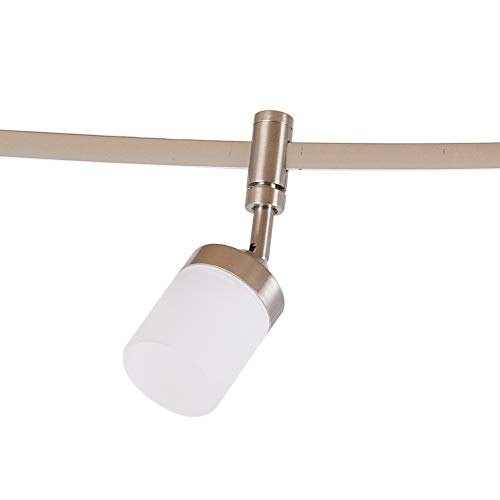 catalina lighting 21904 000 transitional 6 integrated led flex track ceiling light bulbs included 96 brushed nickel