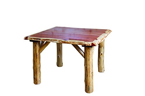 furniture barn usa rustic red cedar log traditional square dining table and 4 chair set
