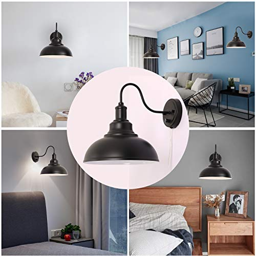 kingmi wall lamp dimmable wall sconce black industrial vintage farmhouse wall sconce lighting gooseneck wall light