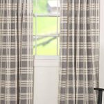 Piper Classics Logan Gray Curtain Panels Set Of 2 84 Long Modern Farmhouse Country Curtains Light Gray Cream Plaid Drapes Farmhouse Goals