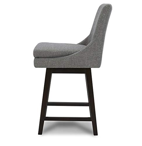 Chita Counter Height Swivel Barstool Upholstered Fabric Bar Stool 26 H Seat Height Fog Gray Farmhouse Goals