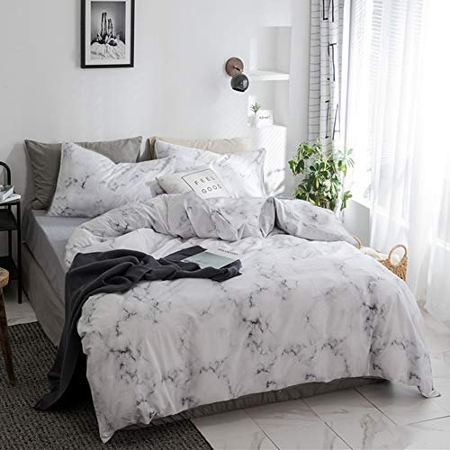 jumeey white marble comforter set queen marble bedding sets full size abstract grey texture bed comforter set for women
