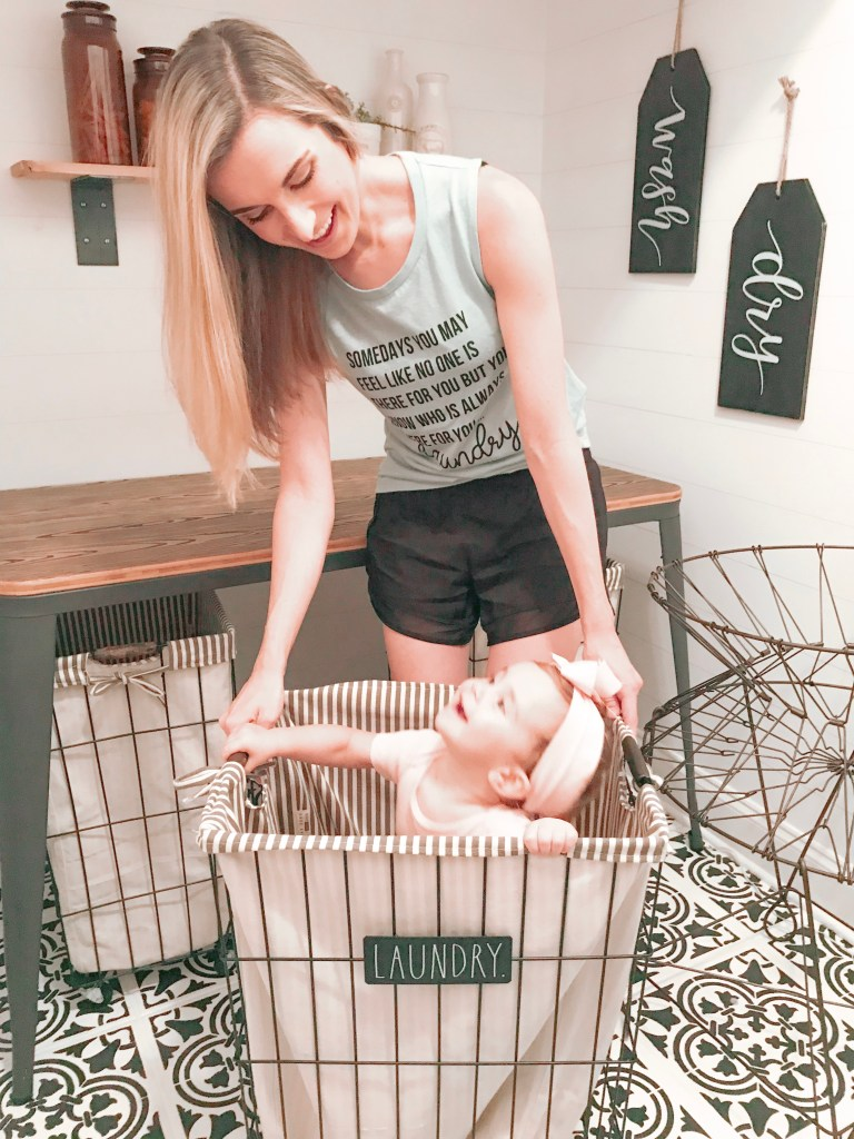 Baby In Laundry Basket - Farmhouseish