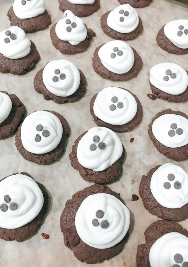 Gluten-Free Double Chocolate Chip Ghost Cookie Recipe