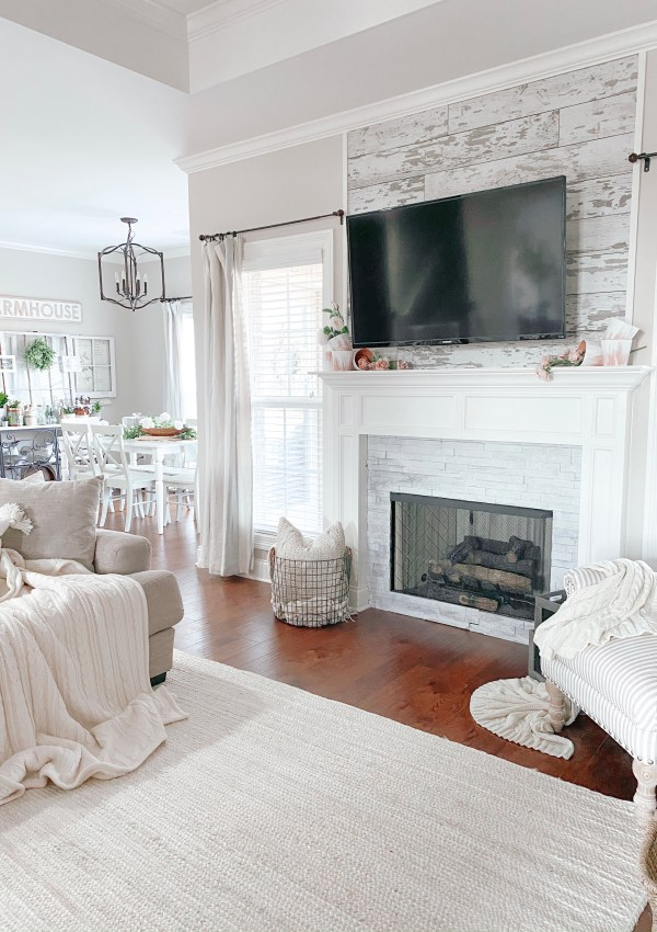 The Tips & Tricks I Learned When Whitewashing My Fireplace