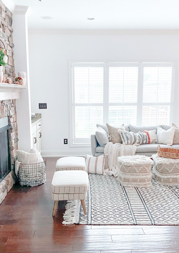 The Boho-Modern-Farmhouse Living Room Furniture I'm Loving Right Now