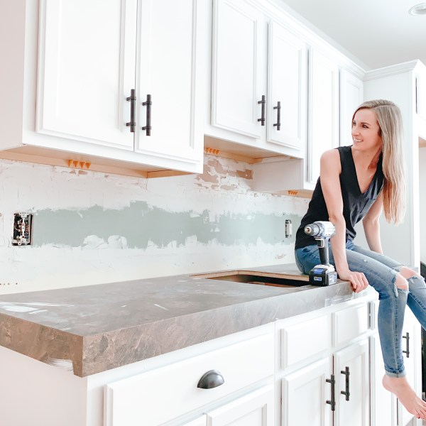 Farmhouseish Painted Cabinets Feature