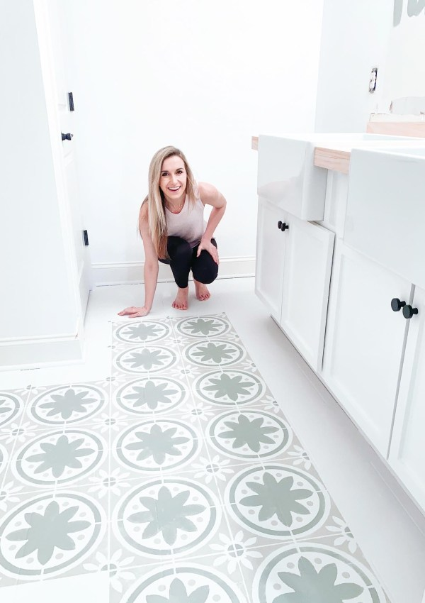 How To Stencil Your Floors Like A Pro (& Get The Handpainted Tile Look You Love For Less)
